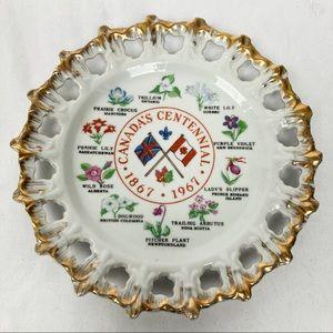 Vintage decorative plate Canada centennial 1967